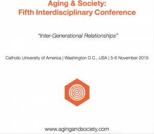 Aging & Society 2015 International Conference