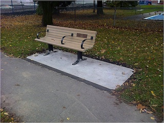 Installation of benches
