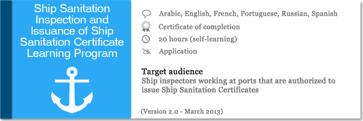 Ship Sanitation Inspection and Issuance of Ship Sanitation ...