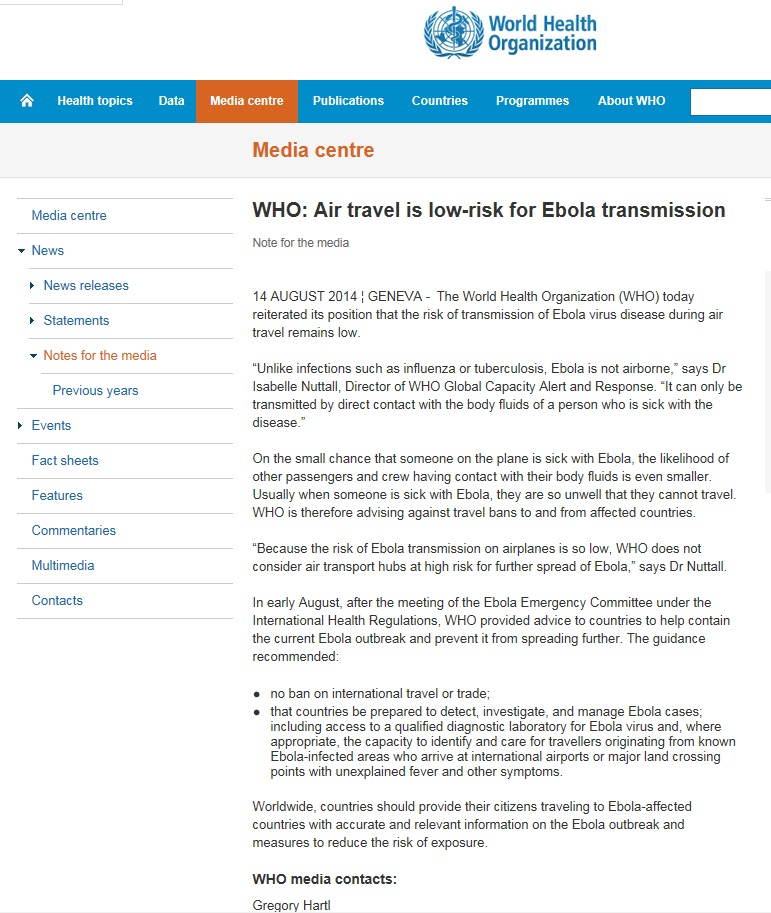 Note for the media 14th August_Air travel is low-risk for Ebola Transmission.jpg