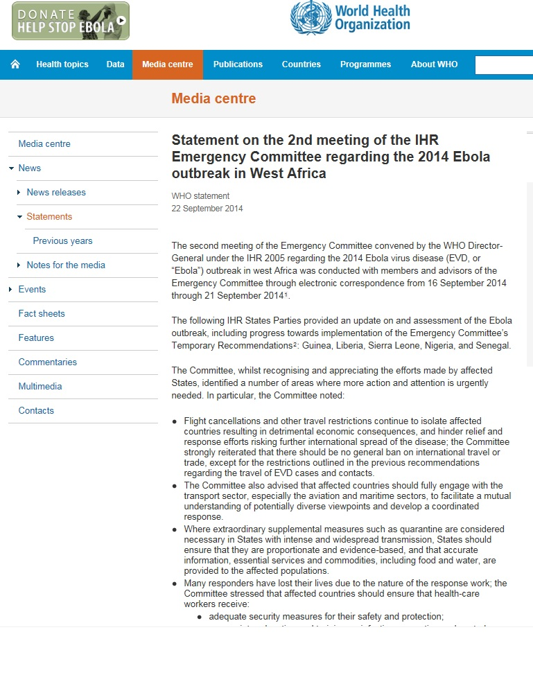 Statement on the 2nd meeting of the IHR Emergency Committee _22Sept2014.jpg